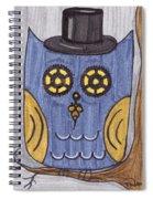 Steampunk Owl Spiral Notebook