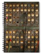 Steampunk - Phones - The Old Switch Board Spiral Notebook