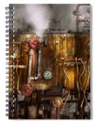 Steampunk - Plumbing - Distilation Apparatus  Spiral Notebook