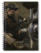 Steampunk - The Man 1 Spiral Notebook
