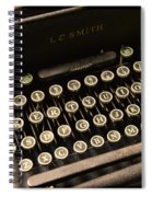 Steampunk - Typewriter - The Age Of Industry Spiral Notebook