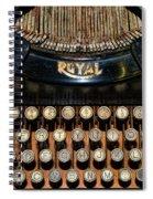 Steampunk - Typewriter -the Royal Spiral Notebook