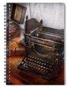 Steampunk - Typewriter - The Secret Messenger  Spiral Notebook