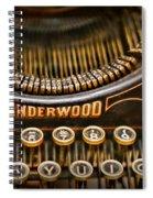 Steampunk - Typewriter - Underwood Spiral Notebook