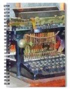 Steampunk - Vintage Typewriter Spiral Notebook