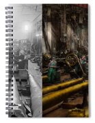 Steampunk - War - We Are Ready - Side By Side Spiral Notebook