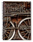 Steampunk- Wheels Locomotive Spiral Notebook