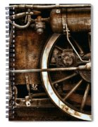 Steampunk- Wheels Of Vintage Steam Train Spiral Notebook