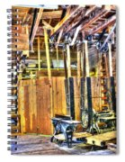Steampunk Woodshop 4 Spiral Notebook