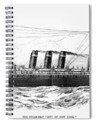 Steamship - City Of New York Spiral Notebook