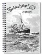 Steamship Menu, 1901 Spiral Notebook