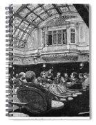 Steamship: Saloon, 1890 Spiral Notebook