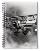 Stearman Biplane Black And White Spiral Notebook