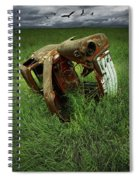 Steel Auto Carcass With Vultures Spiral Notebook
