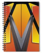 Steel Beams 02 Mirror Image Spiral Notebook