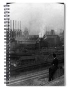 Steel Factory, C1907 Spiral Notebook