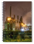 Steel Mill At Night Spiral Notebook