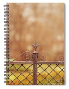 Steel Ornamented Fence Spiral Notebook