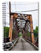 Steel Span Railroad Bridge Manayunk  Philadelphia Pa Spiral Notebook
