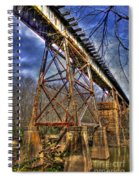 Steel Strong Rr Bridge Over The Yellow River Spiral Notebook