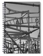 Steeple Chase In Black And White Spiral Notebook