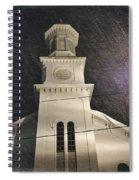 Steeple In A Snowstorm Spiral Notebook