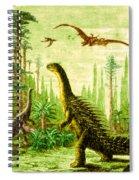 Stegosaurus And Compsognathus Dinosaurs Spiral Notebook
