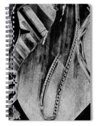 Steinway Black And White Inners Spiral Notebook