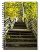 Step Trail In Woods 10 Spiral Notebook