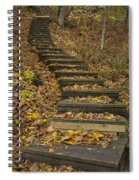Step Trail In Woods 11 Spiral Notebook