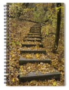 Step Trail In Woods 14 Spiral Notebook