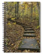 Step Trail In Woods 15 Spiral Notebook