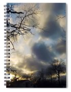 Stepping Over The Sun Spiral Notebook