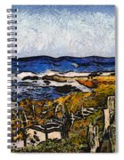 Steps To The Sea Abstract Spiral Notebook