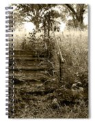 Steps To Yesterday Spiral Notebook