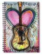 Steve Gold Guitar Spiral Notebook