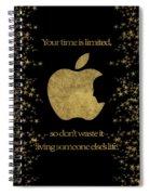 Steve Jobs Quote Original Digital Artwork Spiral Notebook