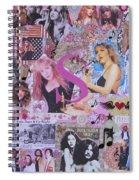 Stevie Nicks Art Collage Spiral Notebook