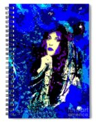 Stevie Nicks In Blue Spiral Notebook