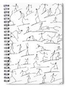 Stickmen  Surfing Spiral Notebook