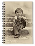 Sticky Boot Antique Sepia Spiral Notebook