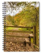 Stile In Plessey Woods Spiral Notebook