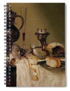 Still Life, 1642 Oil On Canvas Spiral Notebook