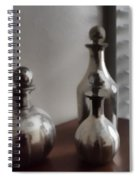 Still Life In Silver 2 Spiral Notebook