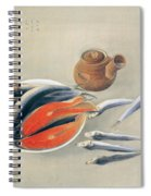 Still Life  Salmon Slices And Sardines Spiral Notebook