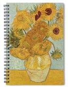 Still Life Sunflowers Spiral Notebook