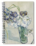 Still Life Vase Of Carnations Spiral Notebook