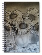 Still Life - Vase With 6 Sunflowers Spiral Notebook