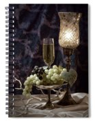 Still Life Wine With Grapes Spiral Notebook