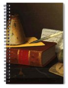 Still Life With A Writing Table Spiral Notebook